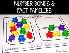 These number bond and family fact activities were made specifically to go with the daily lessons in Week 13 of my Math Workshop Unit!However, even if you don't own the unit - you can print and use these in your classroom for extra practice.I made these to help first grade students understand the relationship between addition and subtraction through the use of number bonds and fact families!Enjoy!