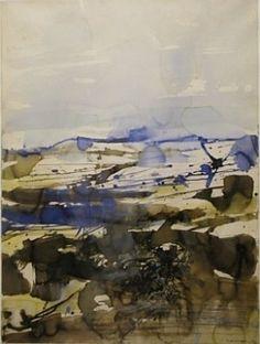 Zao Wou Ki, entre-ciel-et-terre, aquarelle et encre