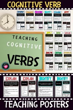 Cognitive Verb Posters based on Australian Curriculum - Fantastic Teacher Tools - Created to suit students in secondary. Each poster has the verb definition, the process broken down - Secondary Teacher, Primary Teaching, Teaching Resources, Persuasive Writing, Paragraph Writing, Opinion Writing, Education And Literacy, Primary Education, Graphic Organisers