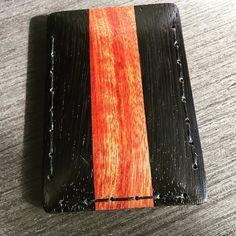 Custom cardholder order: Wenge wood  Bloodwood.  #maison630 #madeincanada #handmade #montreal #travel #wallet # cardholder #menstyle #mensstyle #menswear #mensfashion #fashion #style #dapper #accessories #handcrafted #outfit #madeincanada #canada #travelinstyle #wood #horween #leather #leathergoods Montreal Travel, Wenge Wood, Travel Style, Dapper, Menswear, Action, Canada, Mens Fashion, Wallet