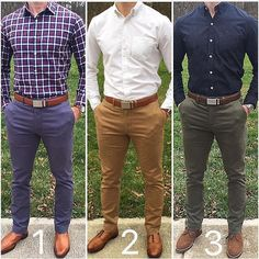 multiple chino colour and outfit options for men #MensFashionChinos #MensFashionTips