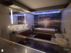 Romantyczna lazienka z energooszczędnym oświetleniem LED - zdjęcie od SOLED Projekty i dekoracje świetlne - Łazienka - Styl Nowoczesny - SOLED Projekty i dekoracje świetlne