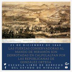 #UnDíaComoHoy pero de 1860, las fuerzas conservadoras al mando de Miramón son derrotadas en #Calpulalpan por las republicanas de González Ortega; por lo que llega a su fin la Guerra de Reforma. #HistoriaDeMéxico #ELDEH #ConoceTuHistoria
