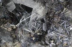 Bismuthinite Terrywallaceite Barite & Tennantite - Herminia Mine, Julcani, Huancavelica Department, Peru