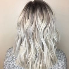 Transitioning your clients from their bleach and tone doesn't have to be difficult! In fact, according to Redken colorist Megan Gepner ( the process can be done with two simple formulas using Redken's new Color Fusion Cool Fashion line. Check them out. Silver Toner, Silver Hair, Grey Blonde Hair, Bleach Blonde, Bleach And Tone, Kim Hair, Cotton Candy Hair, Redken Shades, Dimensional Blonde