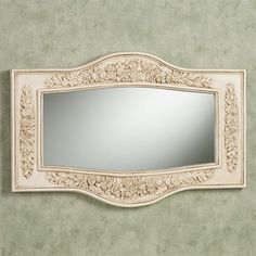 Britannia Wall Mirror Antique Ivory