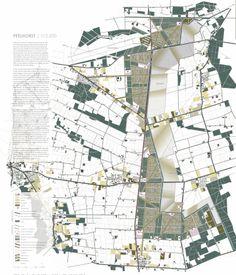 Go nuts! Masterplan voor de Peelhorst. Nutsgoederen langs het kanaal, gecombineerd met de defensiewal, de Middenpeelweg en de vloeivelden.