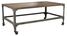 Matt Blatt Patrick Industrial Coffee Table H65 x 110 x 46 $795