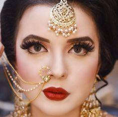 ideas for vintage makeup photography lipsticks Bridal Mehndi Dresses, Pakistani Bridal Makeup, Bridal Eye Makeup, Bridal Hijab, Bridal Makeup Looks, Indian Bridal Fashion, Indian Wedding Jewelry, Bridal Looks, Bridal Jewelry