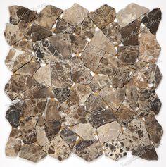 Mozaiek Terrazzo Chocolate - bruin - De genuanceerde bruine mozaïek ...