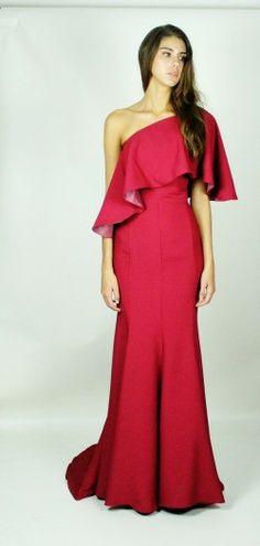 Kirsty Doyle/Jayden asymmetric gown #aw13