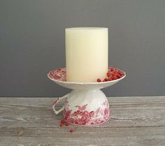 Link is broken but pic is easy to follow. Candle holder from tea cup and saucer. Good Ideas For You | Homemade Gifts