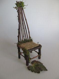 The Nordic Troll Fairy Furniture ooak handmade by Kaeriefaerie52, $45.00