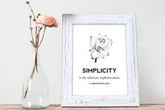 Simplicity Lotus CLARE BOOTHE LUCE Quote by GlitterGoldPrints
