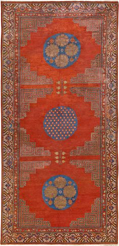 silk Samarkand (Khotan) rug - Samarkand Rug - Vintage Rug - BB4577 by Doris Leslie Blau
