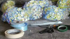 Step by step hydrangea bouquet tutorial