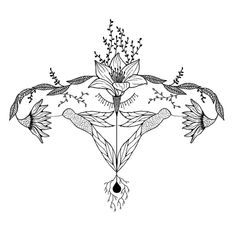 The strongest muscle of the entire human body belongs not to men, but to women: The Uterus Feminist Tattoo, Feminist Art, Anatomy Art, New Tattoos, Tattoo Inspiration, Line Art, Coloring Pages, Body Art, Art Drawings