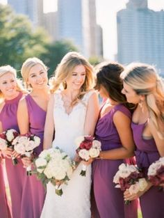 Get inspired by the romantic, garden vibes in this Chicago wedding that took place at the Park Hyatt. Photos by Kristin La Voie Photography. Winter Wedding Flowers, Mod Wedding, Bridesmaid Dresses, Wedding Dresses, Chicago Wedding, Romantic, Elegant, Garden, Photography
