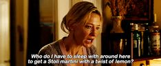Who do I have to sleep with around here to get a Stoli Martini with a twist of lemon? Blue Jasmin #gif