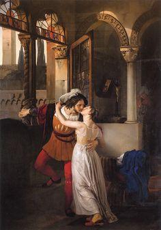 Last Kiss of Romeo and Juliet by Francesco Paolo Hayez - 1823