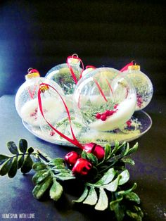 Pretty Handmade Christmas Ornaments