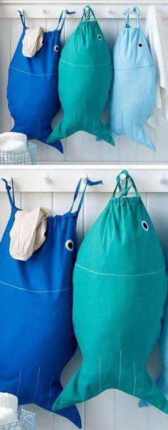 Der richtige Wäschekorb in der Waschküche - clevere Einrichtungsideen panier à linge en tissu coudre vous-même le poisson www. Sewing Hacks, Sewing Tutorials, Sewing Crafts, Sewing Patterns, Diy Crafts, Sewing Tips, Sewing Basics, Bags Sewing, Bag Tutorials