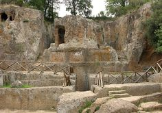 Etruscan Ruins by Sovana Hildebrand Tomb