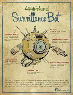 Retro Robotic Renderings - Michael Murdock Replicates Vintage Invention Illustrations (GALLERY)