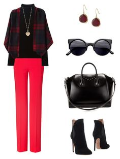 """Shades of autumn"" by arleth-dantas on Polyvore featuring Moschino, Helmut Lang, Alaïa, Givenchy, Betsey Johnson and Karen Kane"