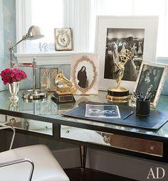 Kind of like my desk. (Grammy and Emmy courtesy of the Osbournes).