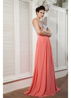 Charming Empire Sweetheart Floor-Length Chiffon Beading Prom Dress