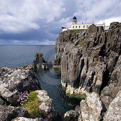 A beautiful shot of Neist Point Lighthouse on the Isle of Skye. #Scotland