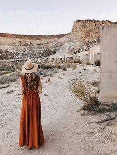 Girl at Amangiri resort Utah