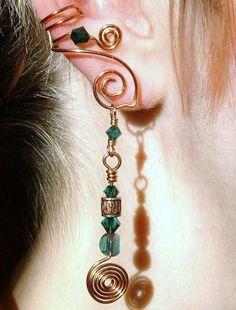 Celtic Spirals Copper Ear Cuff