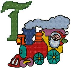 Advanced Embroidery Designs - T is for Train