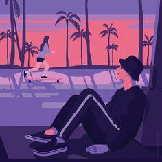 Before sunset - 그래픽 디자인, 일러스트레이션