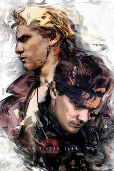 Liquid & Solid Snake || MGS - [Photo Retouch], LaceWingedSaby サビのレースの翼 on ArtStation at https://www.artstation.com/artwork/KzXRB