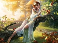 fantasy artwork - gives a seasonality and realistic possibility about Ilia and Elvarheim