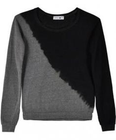Try this art inspired half black half grey tye dyed sweater.