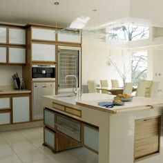 Walnut and glass kitchen | Kitchen design | Decorating ideas
