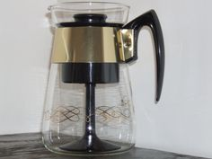 vintage 1960's retro style Pyrex/Corning 6-cup coffee maker
