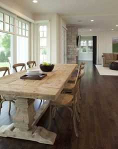 Carved dining room table base - Contemporary Dining Room design by Minneapolis Architect Charlie Simmons – Charlie & Co. Design, Ltd. Dining Room Design, Dining Room Furniture, Dining Room Table, Furniture Design, Dining Chairs, Furniture Sets, Chair Design, Table Bench, Plywood Furniture