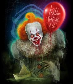 Clown Horror Movie, It The Clown Movie, Best Horror Movies, Arte Horror, Scary Movies, Horror Art, Sexy Horror, Creepy Horror, Pennywise The Dancing Clown