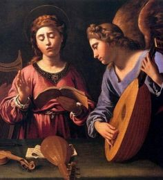 Antiveduto Gramatica, St Cecilia with Two Angels, detail, 1620-25,