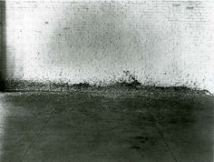 "Richard Serra: Splashing, 1968. In 1968 Serra made his piece titled Splashing by throwing molten lead in the corner where the floor meets the wall in the warehouse of the art dealer Leo Castelli. This work was part of the exhibition ""9 at Castelli"" in 1968."