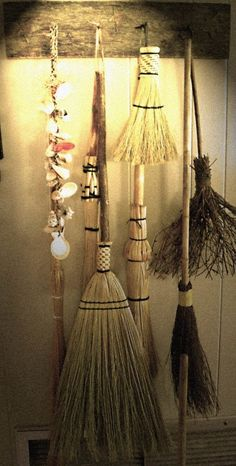 Brooms/Besomes: From stick to stitch - anywho, guess who's gonna klean the house now? for a while; who's counting?