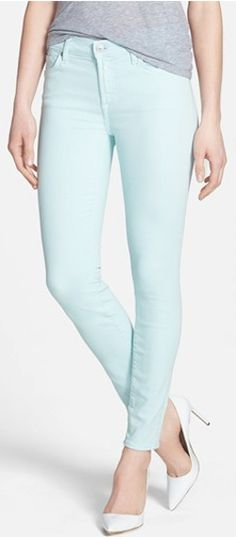 7 for all mankind #mint skinny jeans http://rstyle.me/n/hiv3dr9te
