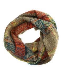 Shirley Multi-Color Plaid Infinity Scarf - Cents Of Style - 1