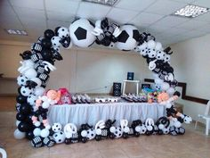 Birthday Party Organizer In Vivek Vihar Delhi Soccer Birthday Parties, Soccer Party, Soccer Wedding, Soccer Banquet, Soccer Decor, Boy Decor, Balloon Arrangements, Balloon Decorations, Helium Balloons