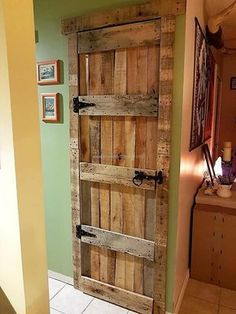 Door is not necessary to buy from the market when a person can use the shipping pallets to create it at home; the pallets are strong to be used to make the rustic look pallet door for the security purpose. So, there is no need to worry if the person is co